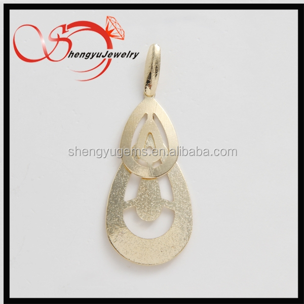 new design gold plating drop earrings jewelry accessory