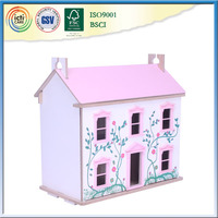 Hot selling wooden people's unique house,chenghai toy