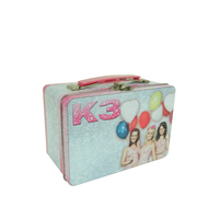 Rectangular Metal Lunch Tin Box Metal