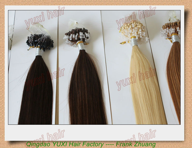 100% remy hair micro link hair extension