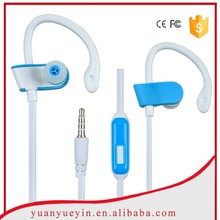 Noise cancelling ear-hook running headphone with mic for all model mobile phone
