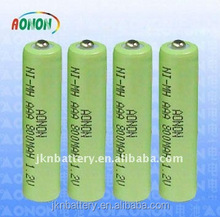 1.2v rechargeable nimh battery pack aa 800mah