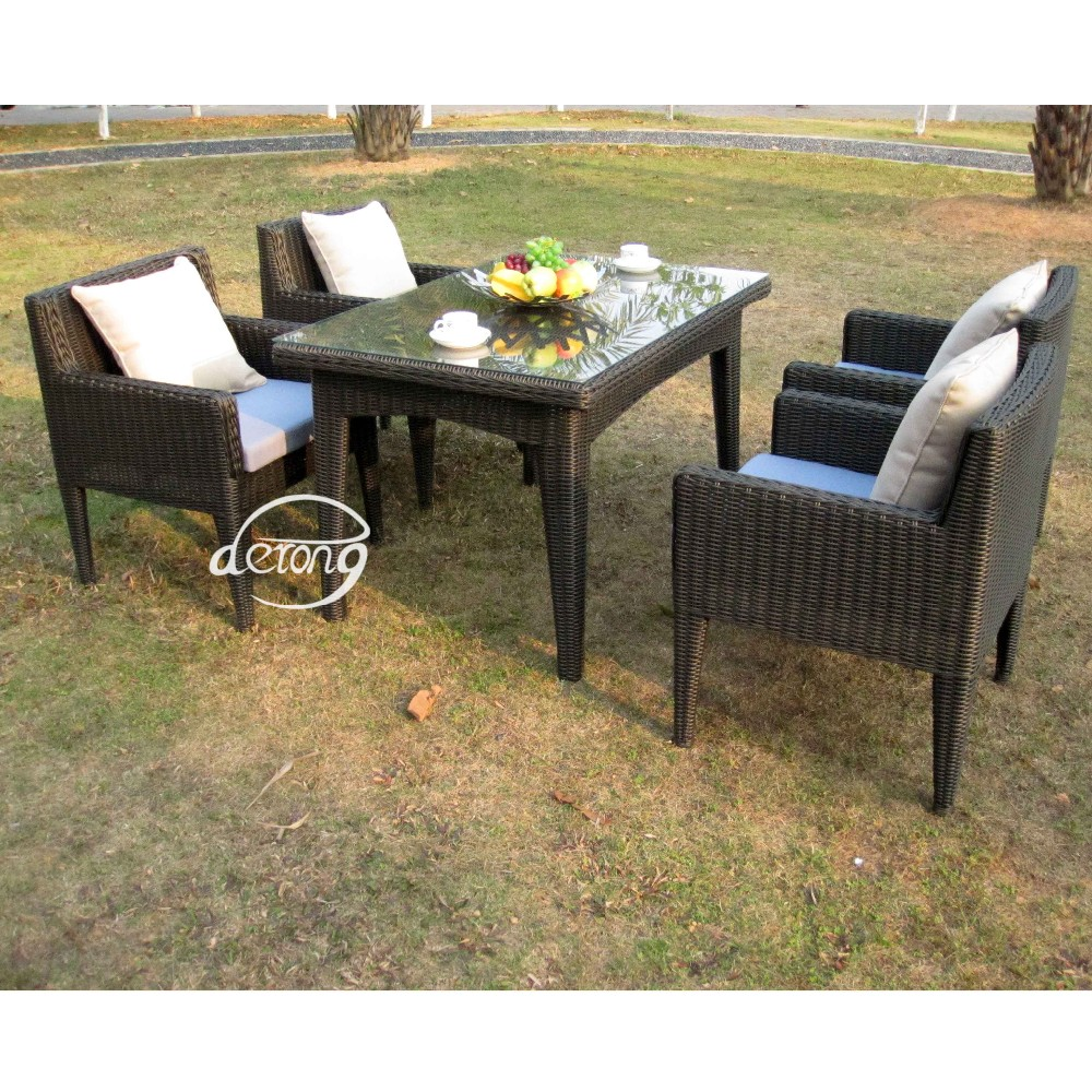 Outdoor Furniture Patio Garden Use Pe Rattan Wicker Patio Coffee Table And Chairs Home Goods