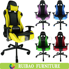 Modern Designed Leather Swivel Sports Racing Gaming Chair With Pillow