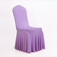 Skirt chair cover spandex chair cover skirting wedding chair cover