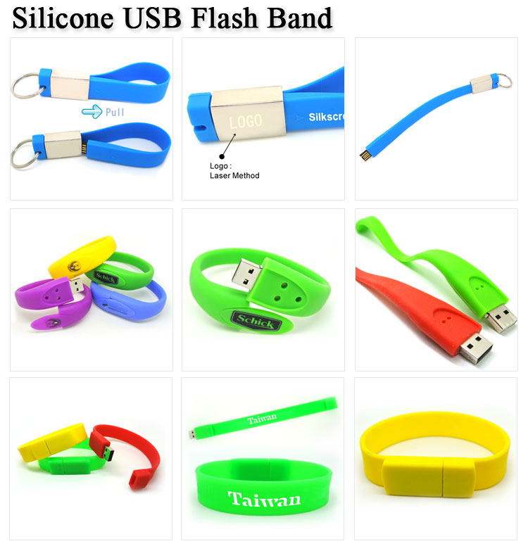China Wholesale Cheap Silicone USB Bracelet Usb Memory Stick