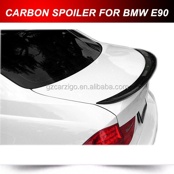 E90 M3 Carbon Fiber Trunk Lip Spoiler Rear Wing For BMW E90 Performance type