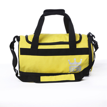 Wide U shape opening outdoor sports cylinder shaped travel bag waterproof barrel gym duffel bag with shoe compartment