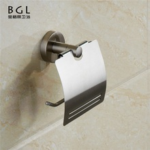Roll Toilet Paper Holder 50733 Zinc Alloy Nickel Brush Finish Tissue Paper Holder With Cover Decorative Toilet Paper Holder