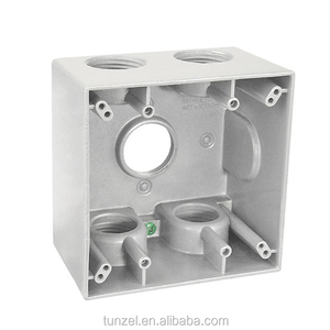 Electric aluminum metal DTB TWO gang junction weatherproof box by china suppliers