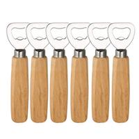 Soft Drinks Personalized Wood Handle Handheld Bartender Beer Bottle Openers