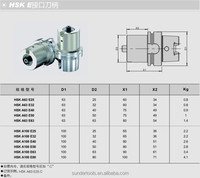HSK63A-E25 tool holder for boring tool with type E connection