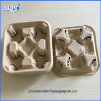 2-cup coffee paper cup holder tray