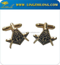 Fashion Exquisite Double Plated Custom Masonic Cufflinks