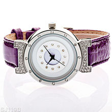 2013 New design concept watch with high grade leather