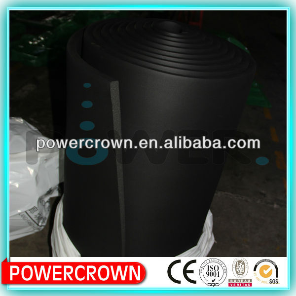 black foam insulation roll/foam rubber wall insulation/high density rubber foam insulation roll