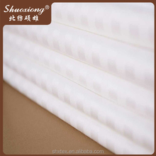 120 inch wide poly cotton white stripe bedding fabric,fabric manufactuer
