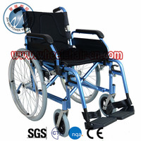 Light Blue Quick release Manual mobility wheelchair