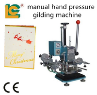 dongguan luen cheong mannual hot stamping machine TH-170-C for business card with gold foil paper