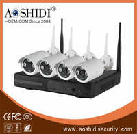 High Quality 4ch wifi wireless cctv camera system for small shops