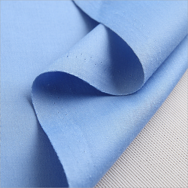 50 polyester 50 cotton fabric for work clothes T-shirt