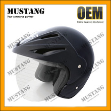 DOT Half Face Matte Black Light Weight Safe Moto Helmet