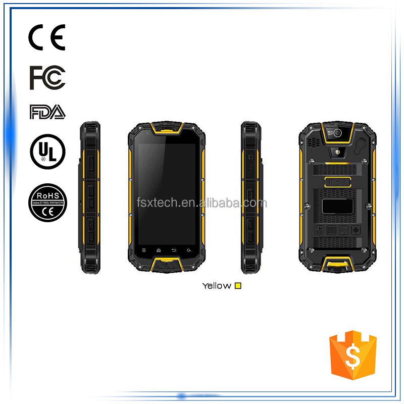 "4.5""Android 3G Bluetooth GPS WIFI Compass Gyroscope G-Sensor Accelerometer best rugged waterproof handheld mobile phone india"