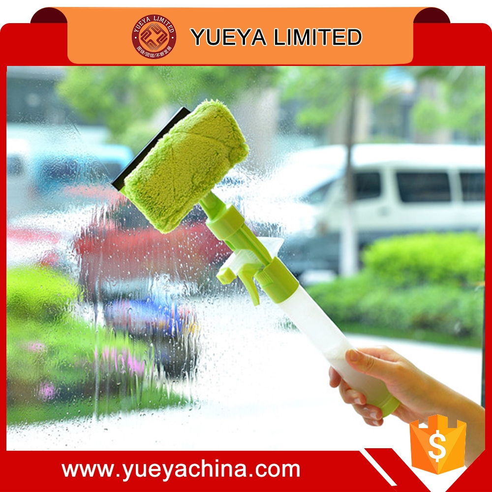 Mutifunctional Car Glass Spray Wiper Window Ceramic Tile Cleaning Squeegee Brush-green