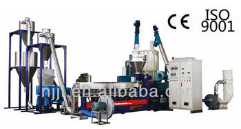 Wood-plastic granulator twin screw extruder