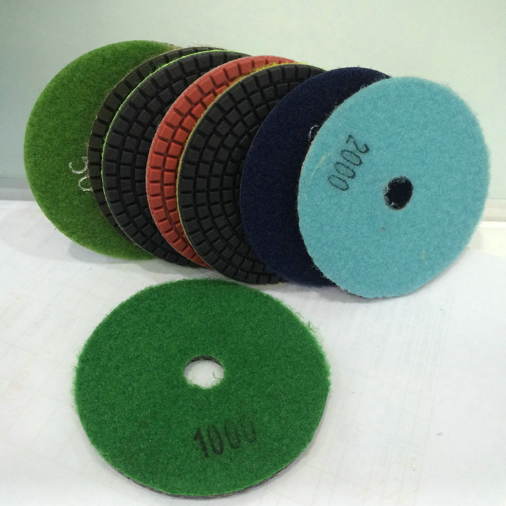 7 inch Abrasive granite diamond dry polishing pad for concrete