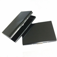 Black Stainless Steel Id Holder RFID Blocking Credit Card Case Business Card Holder