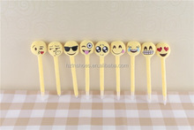 new product 2016 toys plush emoji pen soft emoji toys pen 9 items yellow cute cheap plush whatsapp emoji pen