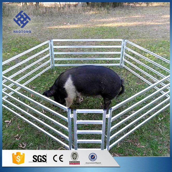 30 Years' factory supply cattle fencing panels metal fence 6 bars heavy duty corral cattle panel galvanized corral panels