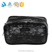 Large clear plastic cosmetic bag, plain waterproof makeup bags and cases wholesale