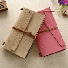 2015 novel pirate leaf kraft notebook with leather cover for journal and diary