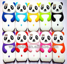 2013 new cute panda 3d silicon animal case For iPhone 5c