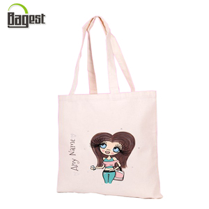 OEKOTEX Audited Promotional Printed 100% Organic Cotton Bag for lady