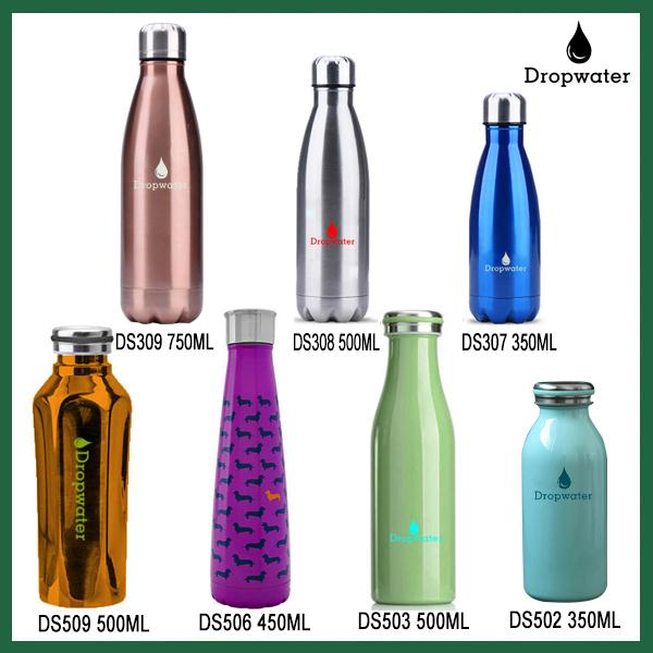Promotion 500ML personalized starbucks design double wall insulated ice flask with custom logo