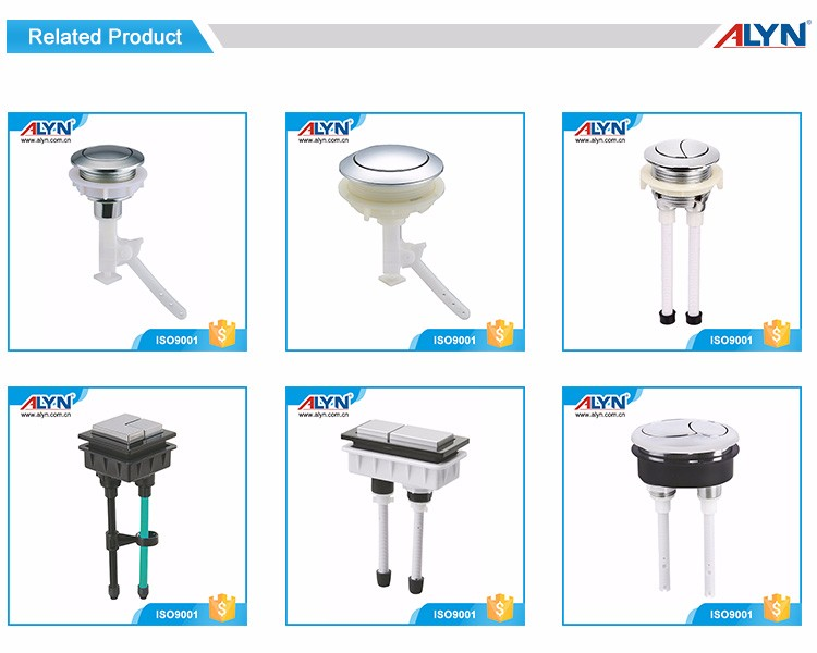 Professional design diameter 38 chrome plated ABS toilet push button