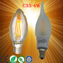 c35 led filament bulb dimmable c35 e14 filament led candle lamp e14 e12 control c35 led bulb e14