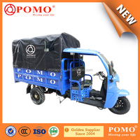 2016 Popular Heavy Load Strong Gasoline Cabin Semi-Closed Cargo Chinese 250CC Motorized 3 Wheels Tricycle For Adults