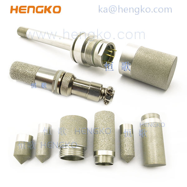 Sintered stainless steel microns filter probe housing