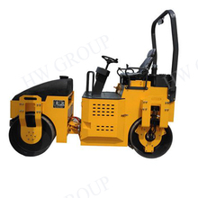 Mini bitumen ride-on type road roller/bitumen road compactor with double drum for sale