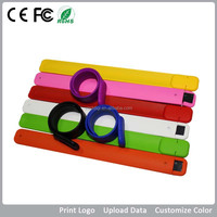 Factory Price Customized Wrist Band Usb , Branded Silicon Flash Usb Bracelet