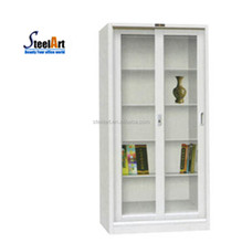 Full height metal sliding door office storage steel mirrored file cabinet