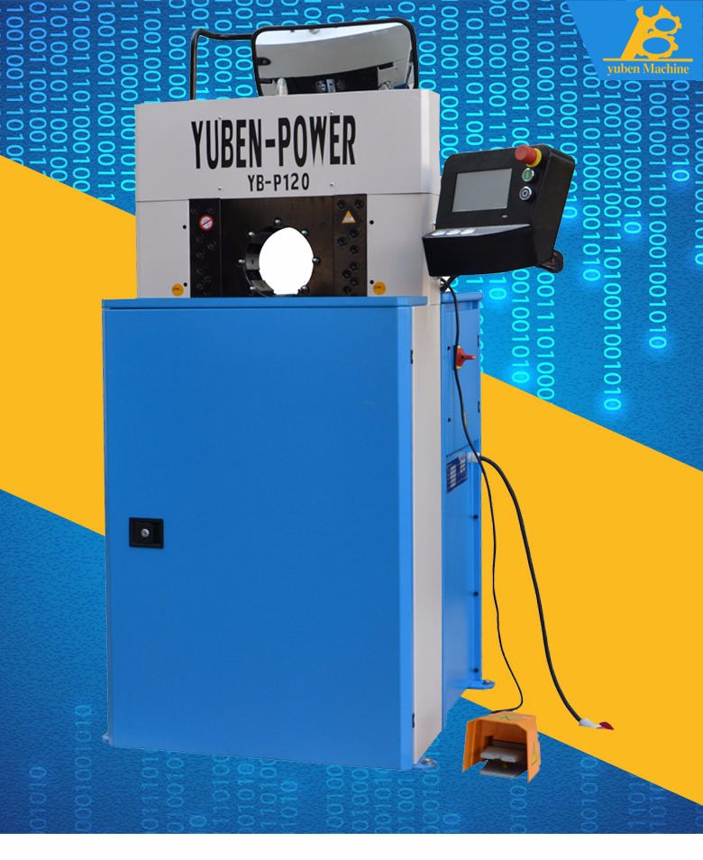 crimping machine for hydraulic hoses