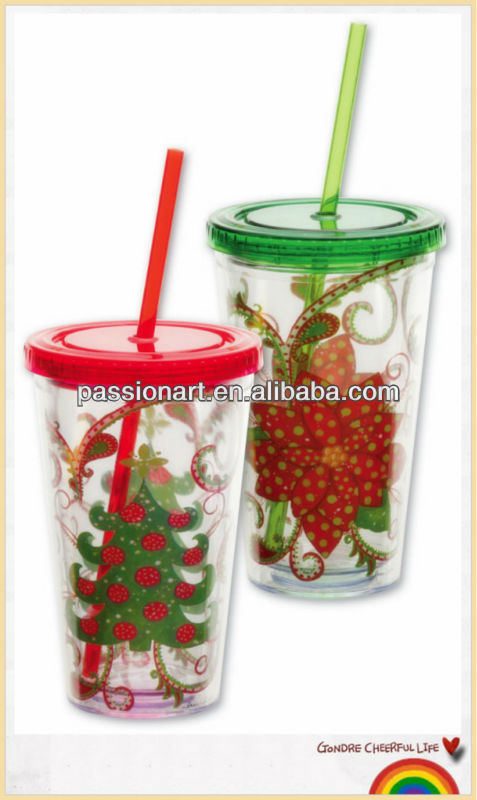Decorating Plastic Tumbler With Straw