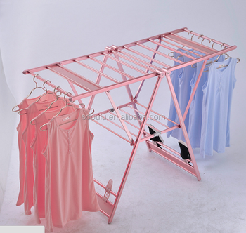 Adjustable aluminum drying hanger foldable clothes drying rack