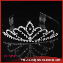 Wholesale bulk princess rhinestone tiaras trendy <strong>crowns</strong> and tiaras