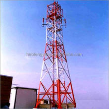 4 legged angular steel Self supporting steel lattice Communication tower
